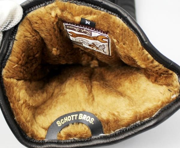 正規取扱 SCHOTT(ショット) WINTER GLOVE LONG ウィンターグローブ ロング BLACK ブラック