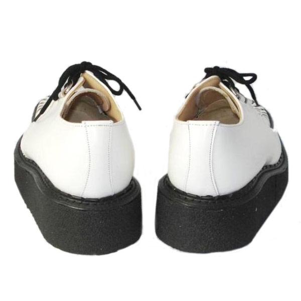 正規取扱店 George Cox(ジョージコックス) ラバーソール 3588 VI-sole ホワイトレザー/ブラックインターレース 白レザー