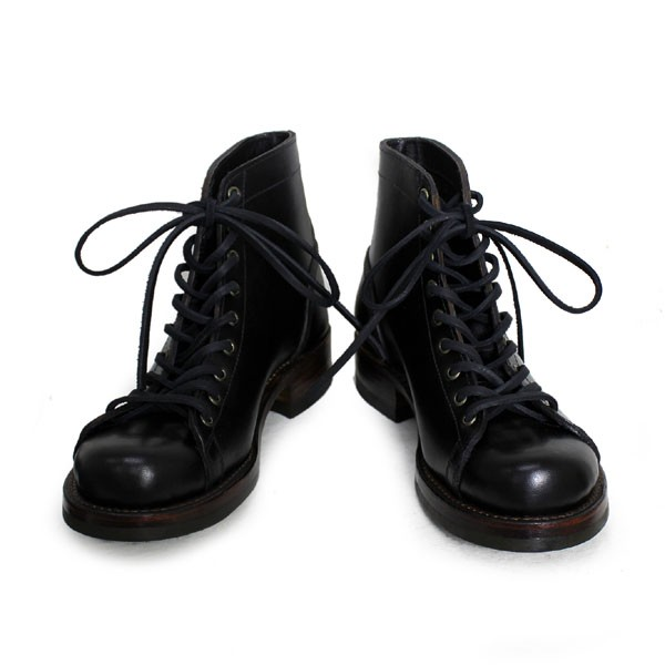 正規取扱 HTC(Hollywood Trading Company) SANTA ROSA(サンタローサ) #ALAMEDA LACE UP BOOTS(レースアップブーツ) BLACK ブラック