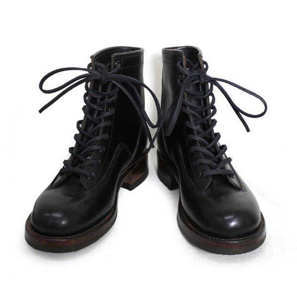 正規取扱 HTC(Hollywood Trading Company) SANTA ROSA(サンタローサ) #PLACERVILLE LACE UP BOOTS(レースアップブーツ) BLACK ブラック