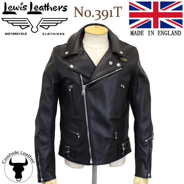 正規取扱店Lewis Leather(ルイスレザー) No.391T LIGHTNING TIGHT FIT(ライトニング タイトフィット) BLACK ブラック