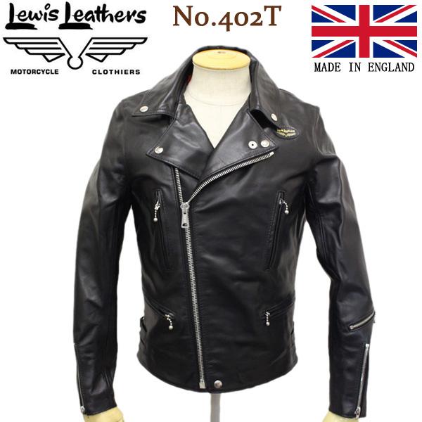 正規取扱店 Lewis Leathers (ルイスレザー) No.402T LIGHTNING TIGHT FIT HORSEHIDE (ライトニング タイトフィット ホースハイド) ブラックレザー