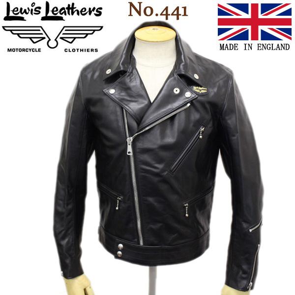 正規取扱店 Lewis Leathers (ルイスレザー) No.441 CYCLONE REGULAR FIT HORSEHIDE (サイクロン レギュラーフィット ホースハイド) ブラックレザー