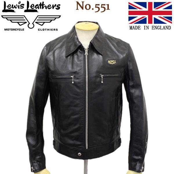 正規取扱店 Lewis Leathers (ルイスレザー) No.551 DOMINATOR REGULAR FIT HORSEHIDE (ドミネーター レギュラーフィット ホースハイド) ブラックレザー