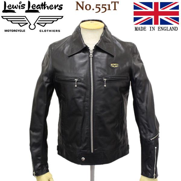 正規取扱店 Lewis Leathers (ルイスレザー) No.551T DOMINATOR TIGHT FIT HORSEHIDE (ドミネーター タイトフィット ホースハイド) ブラックレザー