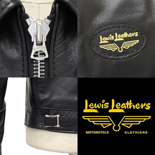 正規取扱店 Lewis Leathers (ルイスレザー) No.59T CORSAIR TIGHT FIT HORSEHIDE (コルセア タイトフィット ホースハイド) ブラックレザー
