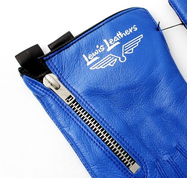 正規取扱店 Lewis Leathers(ルイスレザー) 806 RACING GLOVES レーシンググローブ BLUE ブルー