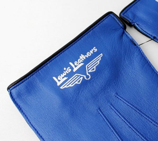 正規取扱店 Lewis Leathers(ルイスレザー) 810 RACING GLOVES レーシンググローブ BLUE ブルー