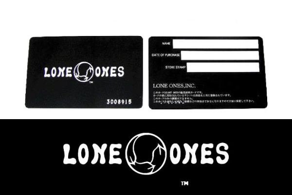 LONE ONES 保証書 レザーポーチ