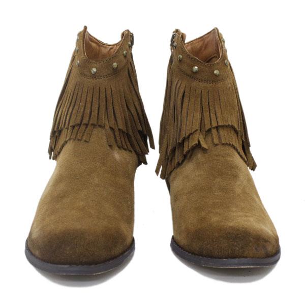 正規取扱店 MINNETONKA(ミネトンカ) Double Fringe Side Zip Boot(ダブルフリンジ サイドジップブーツ) #692F PLUM レディース MT233