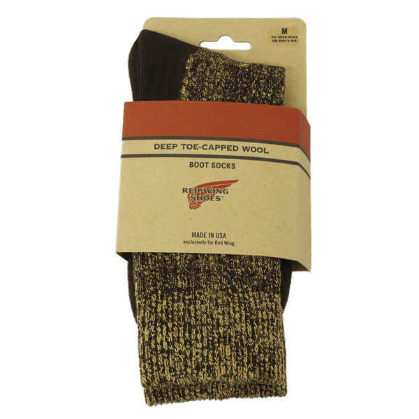 正規取扱店 RED WING(レッドウィング) 97173 Deep Capped Toe Wool Socks(ディープキャップトウールソックス) 靴下 Brown ブラウン
