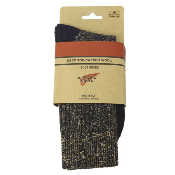 �����谷Ź RED WING(��åɥ�����) 97174 Deep Capped Toe Wool Socks(�ǥ����ץ���åץȥ����륽�å���) ���� Navy �ͥ��ӡ�