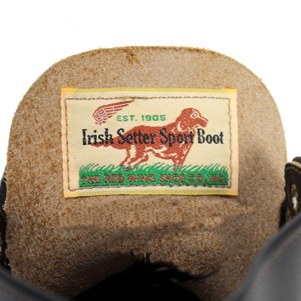 12-2013新作 正規取扱店 REDWING (レッドウィング) 9870 IRISH SETTER アイリッシュセッター ブラック・クローンダイク 犬タグ
