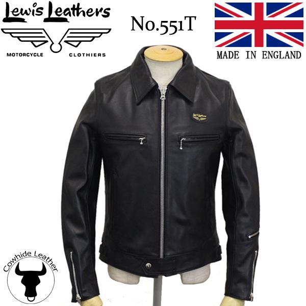 正規取扱店 Lewis Leather (ルイスレザー) No.551T DOMINATOR TIGHT FIT(ドミネーター タイトフィット) BLACK ブラック カウハイド 英国製