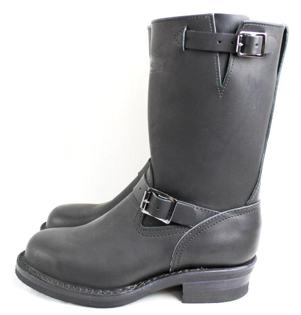 Wesco���������������ǥ����顼 Boss �ܥ� Black,10height,#430 sole,All Black Stitching,Black ink,Black Roller Buckle BS58