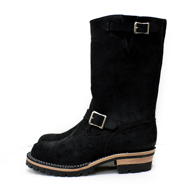 Wescoウエスコ 正規ディーラー Boss ボス Black Roughout,11height,#100sole,Nickel Bucles BS72