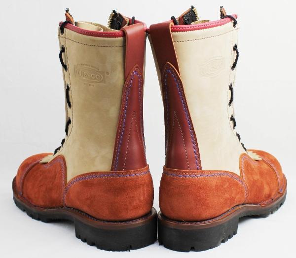 Wescoウエスコ Jobmasterジョブマスター Redwood & Burlap, Lace in Zipper, Leather Lining,10height,#1275sole